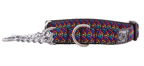 RC Pet Products 3/4-Inch Training Martingale Dog Collar, Medium, 9-14-Inch, Rainbow
