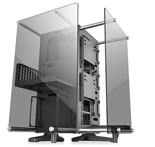 Pci Post Pc System - Thermaltake Core P90 Tempered Glass Black ATX Mid Tower Open Frame 2-Sided Glass Viewing, Tt LCS Certified Gaming Computer Case Chassis, CA-1J8-00M1WN-00