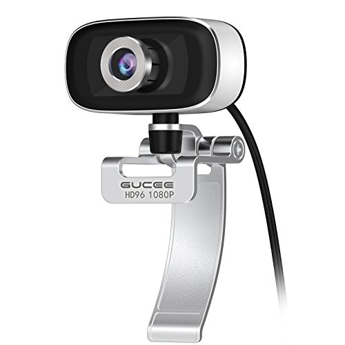 GUCEE HD96 1080P Webcam with Tripod Ready Base (Tripod Not Included), Web Camera HD Microphone Wide Angle USB Plug and Play, Widescreen Calling Recording for Skype, for Win 7 / 8 / 10, Apple Mac OS X