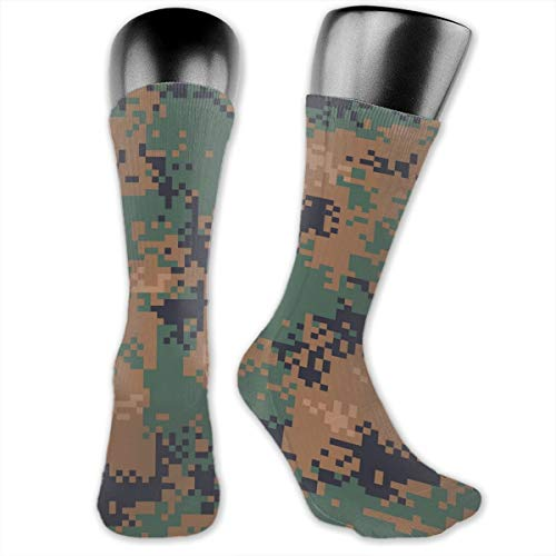Sourde Personality CustomizationDigital Woodland Camouflage Seamless Pattern Socks (a Pair), Softball, Baseball, Lacrosse, Hockey, Volleyball, Rugby Socks ()