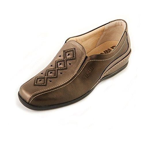 Gold Copper de Zapatos para mujer cordones de Otra Suave Antique Piel 1qPCw