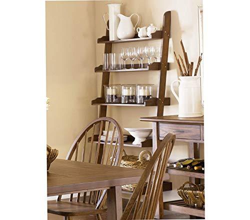 (Libеrty Furniturе Industriеs Farmhouse Dining Leaning Bookcase Weathered Oak Finish)