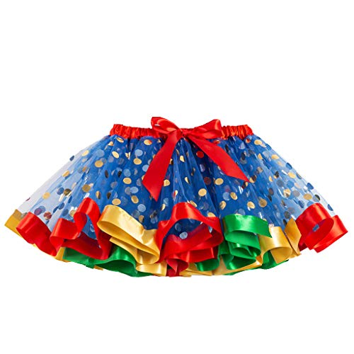 Monsoon Bathing Costumes - Funnygals - Girls Multicolor Tutu Skirt Costume Layered Dance Performance Skirt for