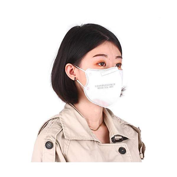 Máscara KN95, Fesjoy- 5pcs Máscara desechable KN95 95% de filtración Máscaras protectoras no tejidas suaves y transpirables 6
