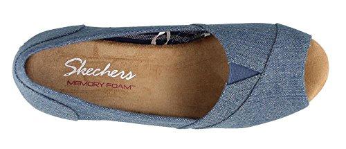 Skechers Monarchs Summer Days Womens Espadrille Wedge Sandals Denim outlet Inexpensive iJzc6Aw3T