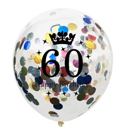 TONVER - Globos Digitales de 60 años, 10 Unidades de 30 cm ...