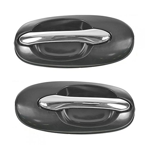 Kia Sedona - Rear Outside Exterior Door Handles Chrome/Black Pair Set for 02-05 Kia Sedona