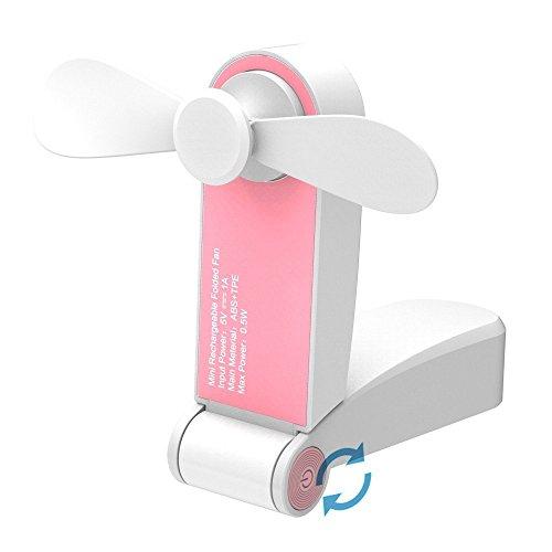 XABegin Mini Handheld Fan Personal Pocket Portable Cooling Fan USB Rechargeable Folded Pocket Fan Table Electric Fan by XABegin