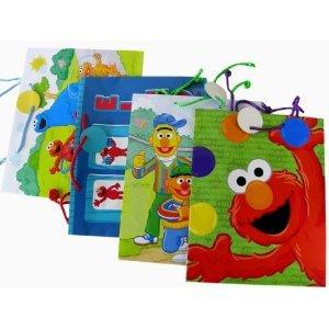 Amazon.com: Sesame Street Gift bags- Elmo and Friends 6pcs ...