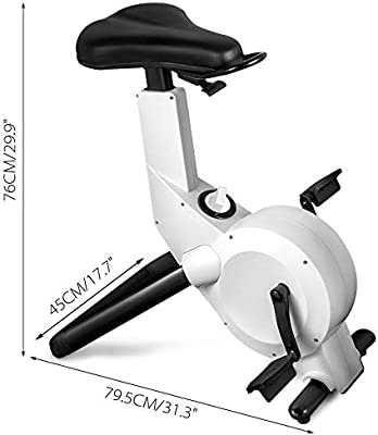 Fantastic Happibuy Indoor Cycling Bike Office White Exercise Bike Height Adjustable Cycle Exercise Bike Magnetic Adjust Resistance Easy Moving With App Creativecarmelina Interior Chair Design Creativecarmelinacom