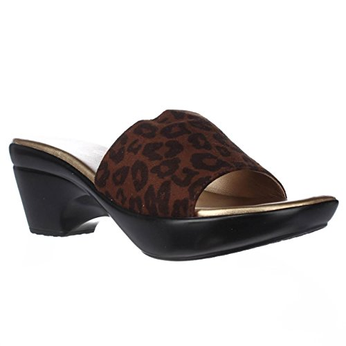 Athena Alexander - Sandalias de vestir para mujer Tan Leopard