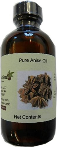 OliveNation Pure Anise Oil - 100% Pure Essential Oil - Size of 8 oz (Biscotti Anise Seed)