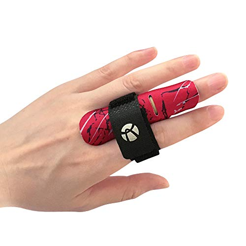 Kuangmi Finger Sleeve Support Protector Finger Splint Brace Pain Relief for Basketball Volleyball Baseball(L/XL(Single), - Jam Basketball Finger