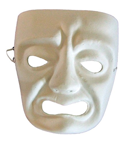 Blank Unpainted Tragedy Venetian Mask Masquerade Halloween Costume Drama Project Arts