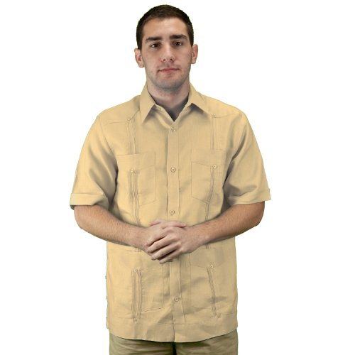 Mens Linen Guayabera Shirt SIZE:M COLOR:NA
