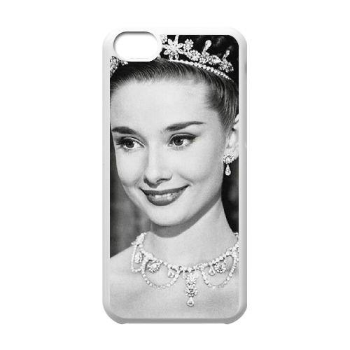 Audrey Hepburn coque iPhone 5C Housse Blanc téléphone portable couverture de cas coque EBDOBCKCO13514