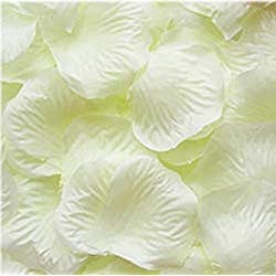 CJESLNA 1000pcs Ivory Silk Rose Petals Bouquet Artificial Flower Wedding Party Aisle Decor Tabl Scatters Confett