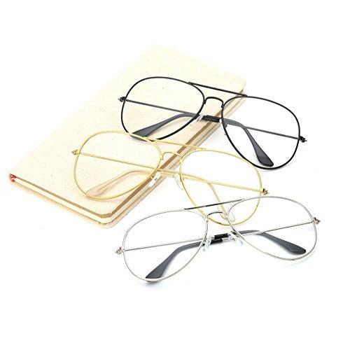 Femme Hommes femmes Lunette verres lunettes lentille transparente Soleil Frame Covermason De Metal Noir myopie Spectacle lunettes Lunettes qUgH1H