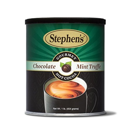 Stephen's Gourmet Hot Cocoa, Chocolate Mint Truffle - 1lb. - Mint Chocolate Dark Truffles