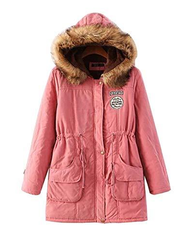 Manteau Capuche Hiver Fit Fourrure Fausse Slim Hiver Fashion Manches Veste El Longues Costume en avec Femme H17xq0
