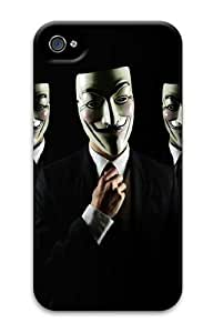 iPhone 4/4s Case and Cover - Anonymous Guys Cool PC Hard Case Cover for iPhone 4 and iPhone 4s