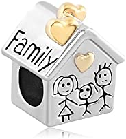 Pugster Heart Love Mom & Baby& Dad Family Sale Cheap Beads Fit Pandora Jewelry