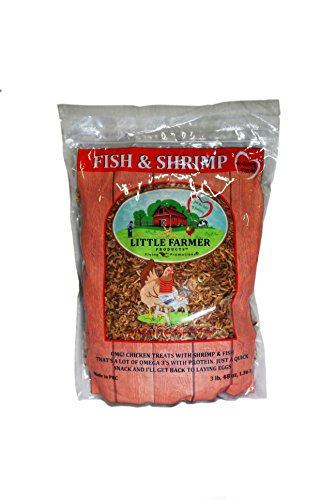 (LITTLE FARMER PRODUCTS Fish & Shrimp | Dried River Shrimp & Minnow Fish | Omega 3, Calcium, Protein Packed | Premium Poultry Chicken Duck Treat (3))