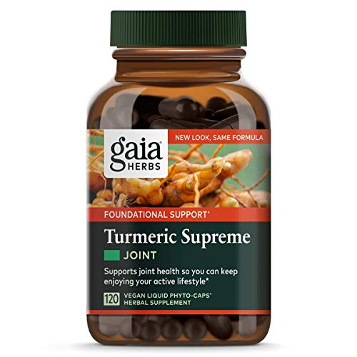 Gaia Herbs Turmeric Supreme Joint, Vegan Liquid Capsules, 60 Count – Turmeric Curcumin Supplement Supports Joint Health & Mobility, Occasional Pain