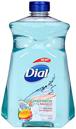 Dial Liquid Hand Soap Refill, Coconut Mango, 52 Ounce
