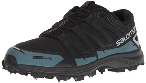 (Salomon SPEEDSPIKE CS Trail Running Shoe, Black/Reflective Silver/Mallard Blue, 12.5 M US)