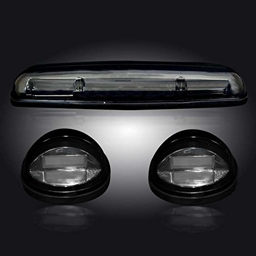 GMC & Chevy 02-07 (1st GEN Classic Body Style) Heavy-Duty (3-Piece Set) Smoked Cab Roof Light Lens with Amber High-Power OLED Bar-Style LED's