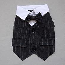 Gentleman Dog Apparel Cat Puppy Dog Wedding Suit Tuxedo Clothes Costume Spring Summer Pet Clothing