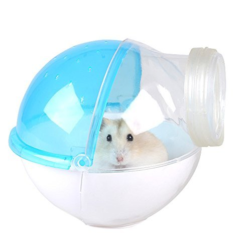 (Hamster Restroom External Connection Design Small Animal Sand Bath House Cleaning Supplies)