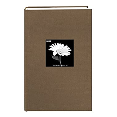 Pioneer 300 Pocket Fabric Frame Cover Photo Album, Warm Mocha