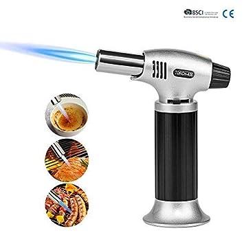 Linterna de cocina, portátil para barbacoa al aire libre, encendedor de gas recargable para