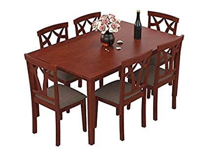 Fantastic Forzza Aspen Six Seater Solid Wood Dining Table Set Oak Pdpeps Interior Chair Design Pdpepsorg