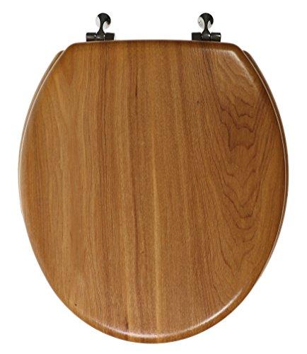 Luxury Real Wood Veneer Natural Toilet Seat - 16.5