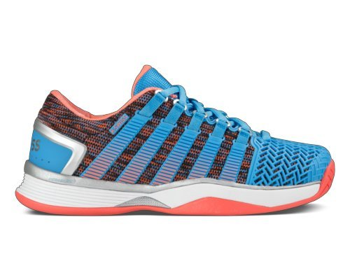 K-SWISS Women`s Hypercourt 2.0 Tennis Shoes Bonnie Blue and Fusion Coral - (95394-419S17) by K-Swiss