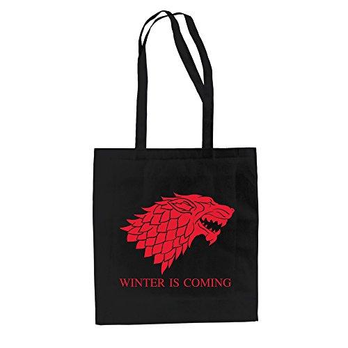 Baumwolltasche Jutebeutel Game of Thrones Tasche Schattenwolf Dire Wolf Schwarz-Grün