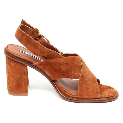 E0190 Shoe Woman Scuro smith Box Tavis Suede Donna Windsor Cuoio Without Sandalo wApH65x8q8