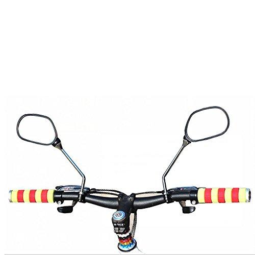 kimo 2 Pcs 360° Rotate Adjustable Universal Handlebar Rear View Mirror For Bike Bicycle Cycling Black by kimo (Image #6)