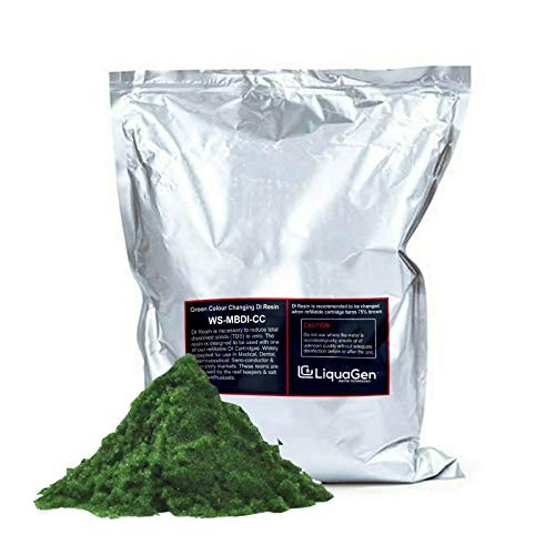 LiquaGen 5 Pounds - Aquarium Reef Color Changing Deionization Resin (RO/DI) for 0 TDS/PPM Water - MBD - 30