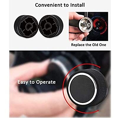 Replacement GM 22912547 Rear Radio Volume Control Knob Button,Gift AC Dash Button Repair Kit for Select GM Vehicles for 07-14 Chevrolet Chevy GMC Buick Cadillac(Pack of 2): Automotive