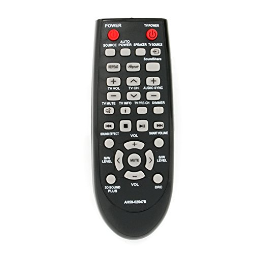New AH59-02547B Soundbar Remote Control Replacement fit for Samsung Sound Bar AH68-02644D-00 HW-F450 HW-F450ZA HW-FM45 HW-FM45C PS-WF450 HWF450 HWF450ZA HWFM45 HWFM45C PSWF450 AH6802644D00 HW-F450/ZA