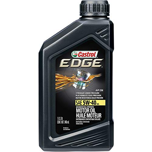Castrol 06249 EDGE 5W-40 Advanced Full Synthetic Motor Oil, 1 Quart, 6 Pack