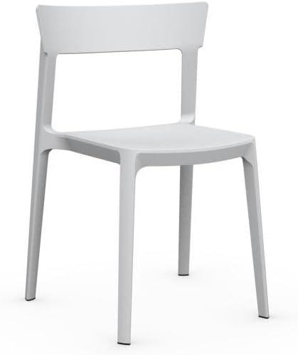 Sedia realizzato con Airmoulding Skin Calligaris Bianco
