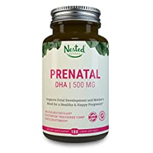 Prenatal DHA from Sustainably Sourced 100% Wild Deep Sea Fish - 660mg OMEGA-3s (500mg DHA, 100mg EPA) 3rd Party Tested to Guarantee Quality, NO Heavy Metals, Vegan Softgels, Non-GMO   Nested Naturals