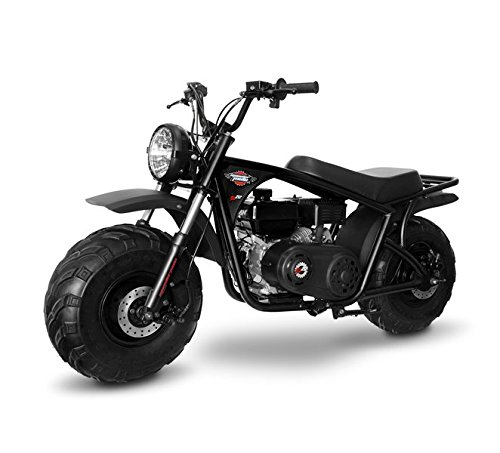 Monster Moto MM-B212-RB Gas Mini Bike with Front Suspension, Assembled in the USA (212CC 7.5HP Black/Red Classic)