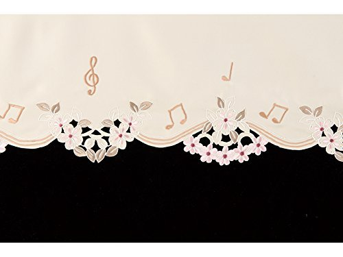 YAMAHA Piano Top Cover UPTCEMIV with flower