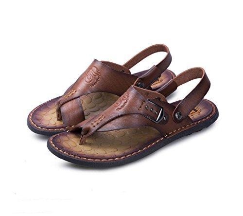 Zapatos Playa Darkbrown Sandalias Casuales Hombres Moda De La Los aa8r5Bqw